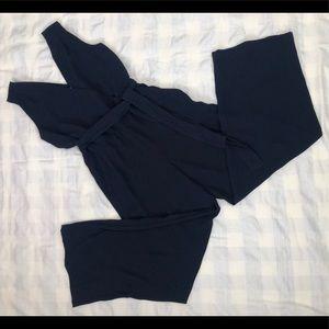 Loft Outlet Jumpsuit NWT Navy Blue Pockets Belt